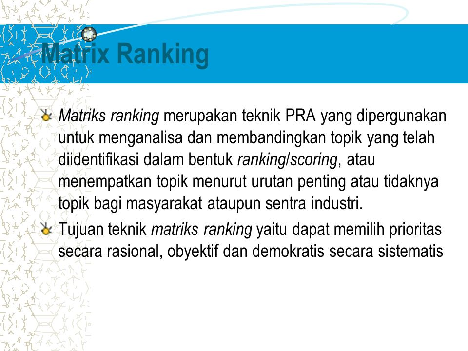 Matrix Ranking