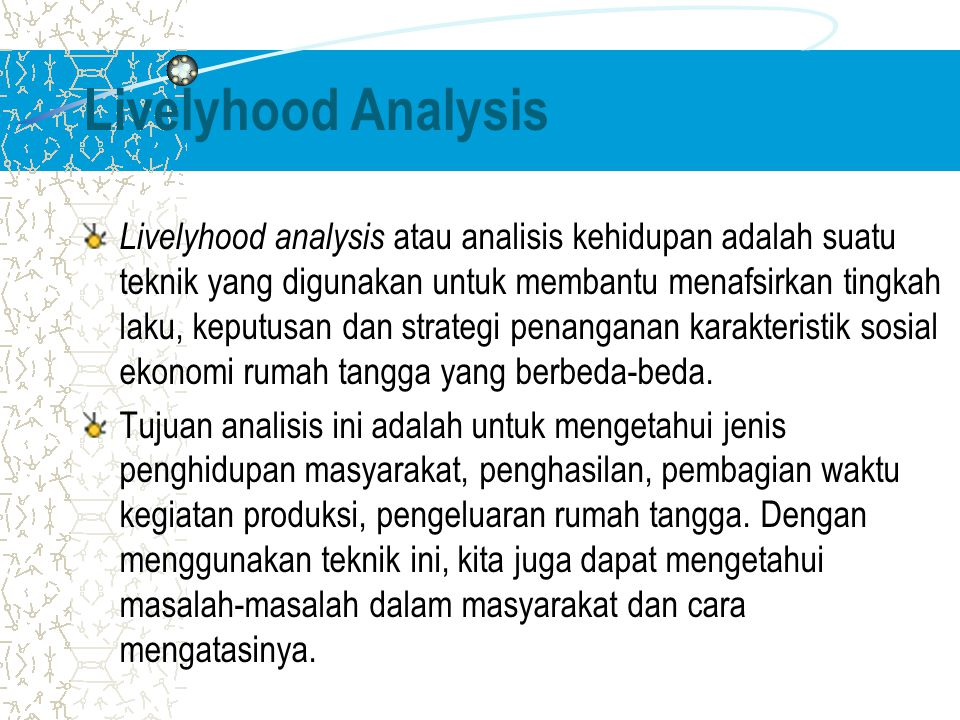 Livelyhood Analysis