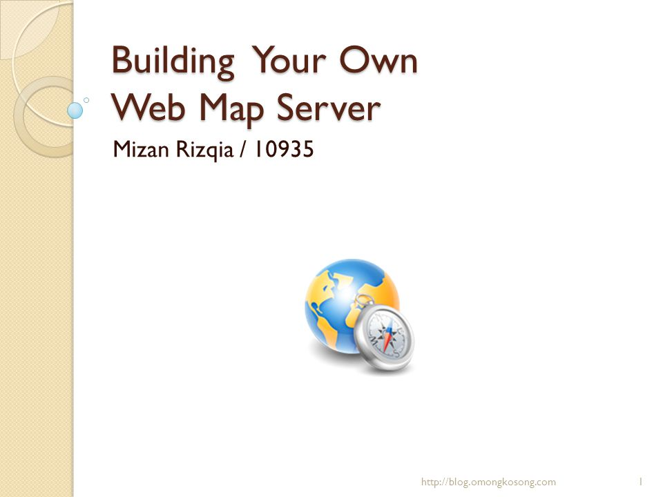 Building Your Own Web Map Server