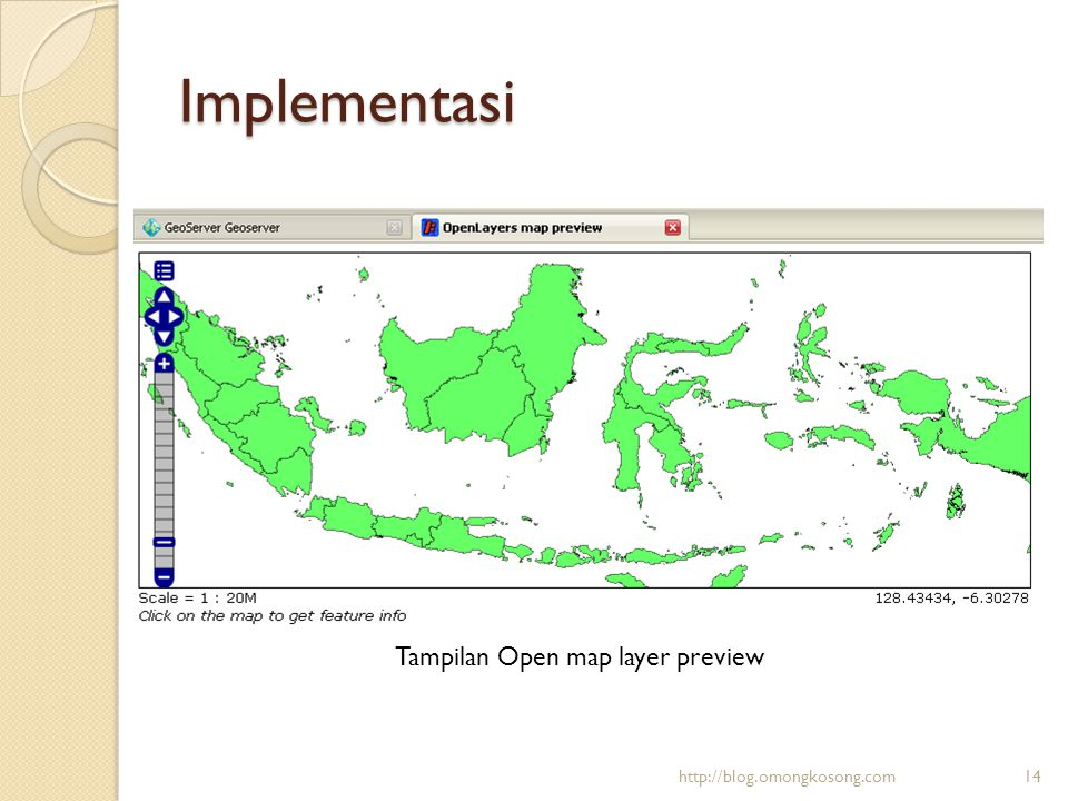 Implementasi Tampilan Open map layer preview