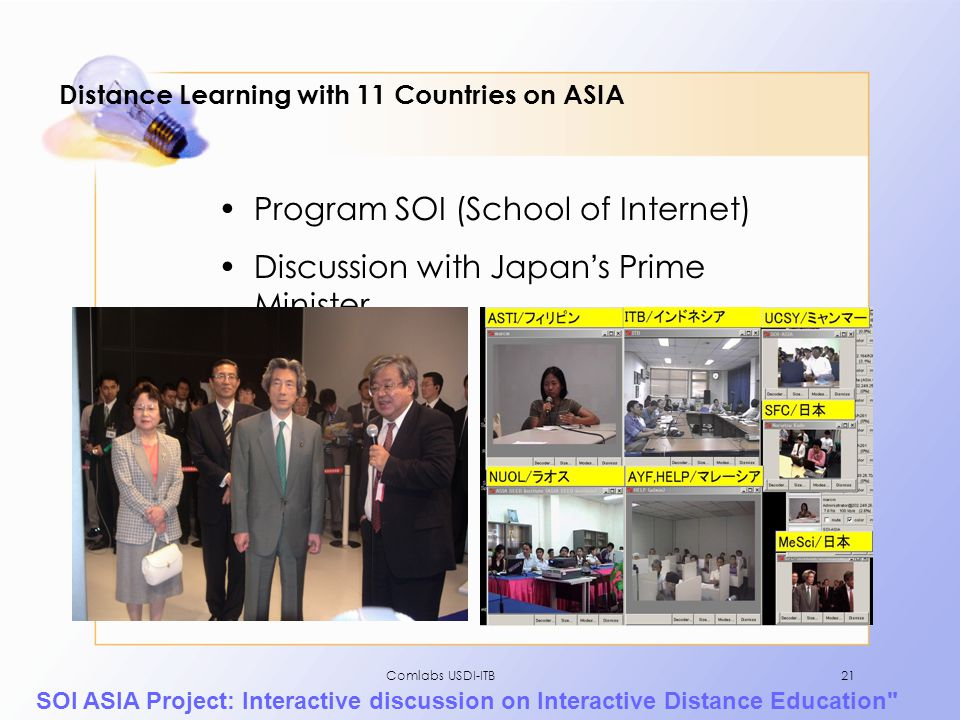 Distance Learning with 11 Countries on ASIA