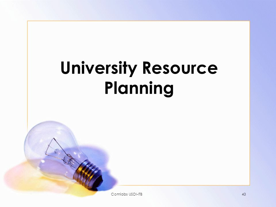 University Resource Planning