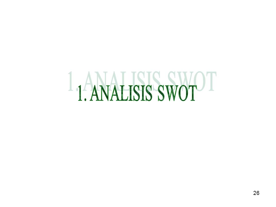 1. ANALISIS SWOT