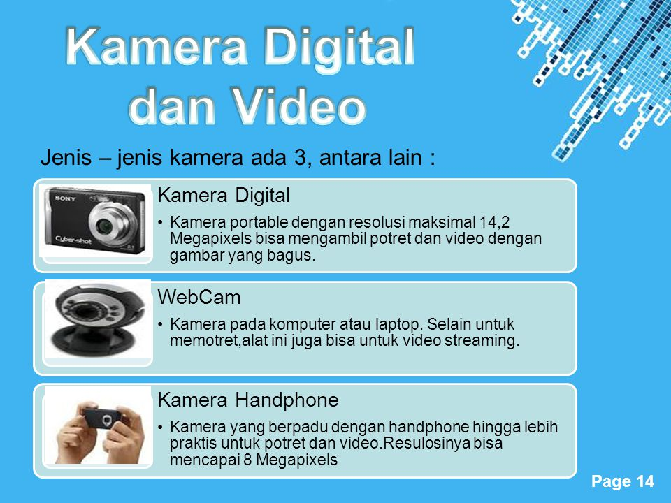 Kamera Digital dan Video