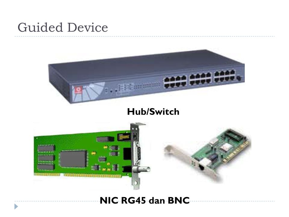 Guided Device Hub/Switch NIC RG45 dan BNC