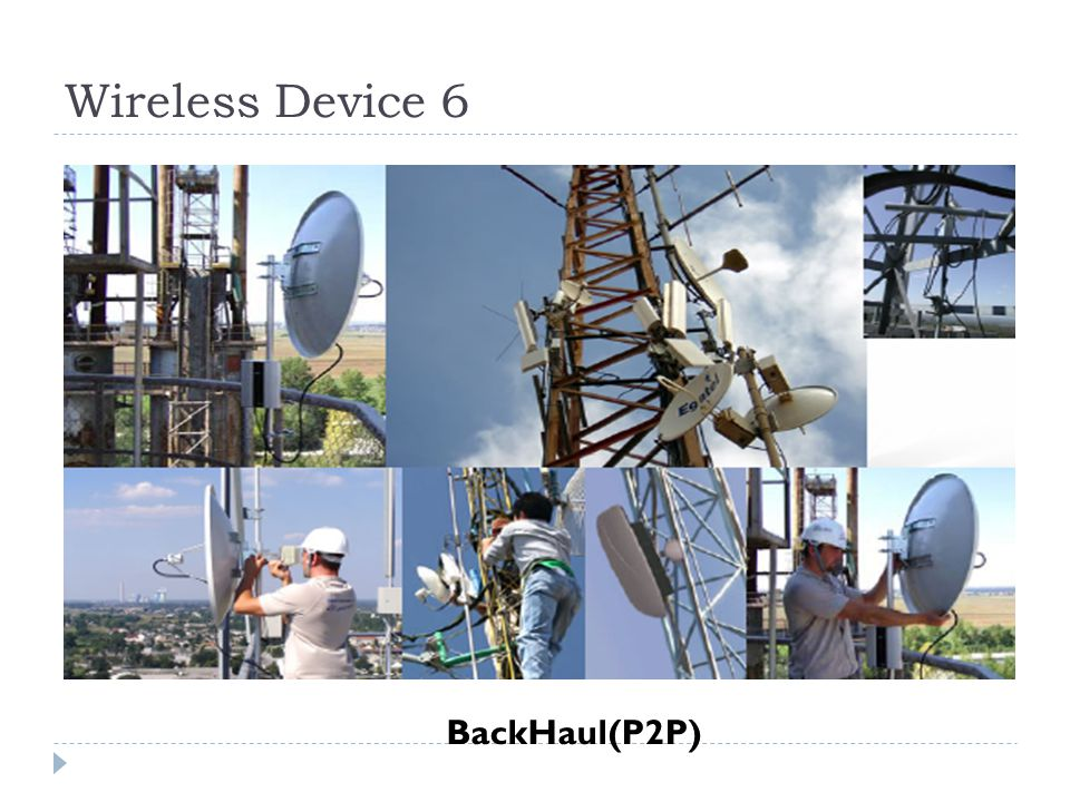 Wireless Device 6 BackHaul(P2P)