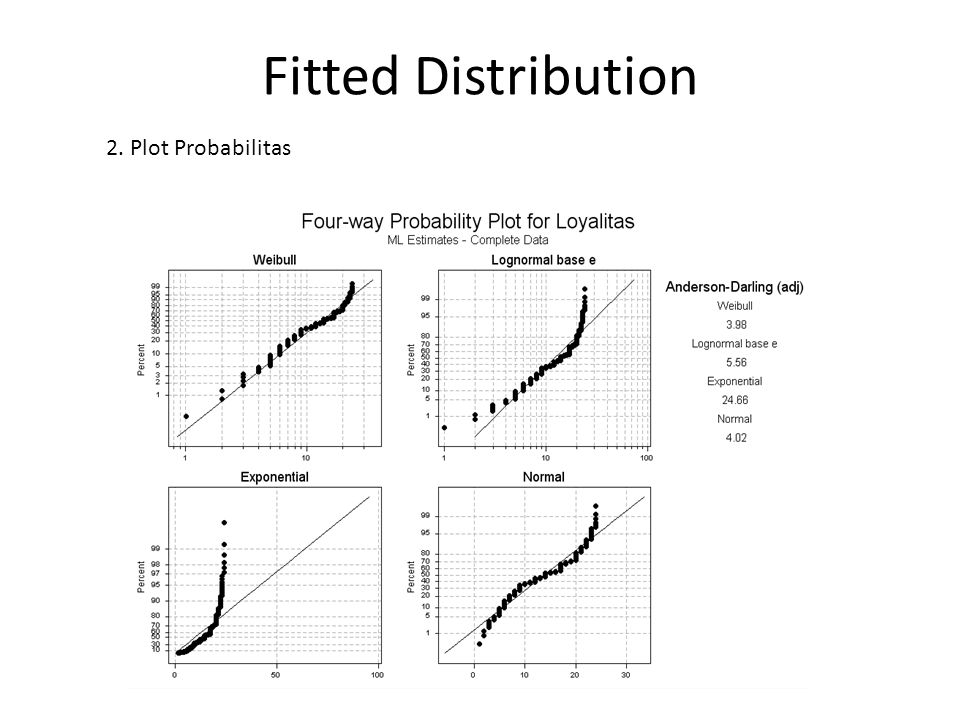 Fitted Distribution 2. Plot Probabilitas