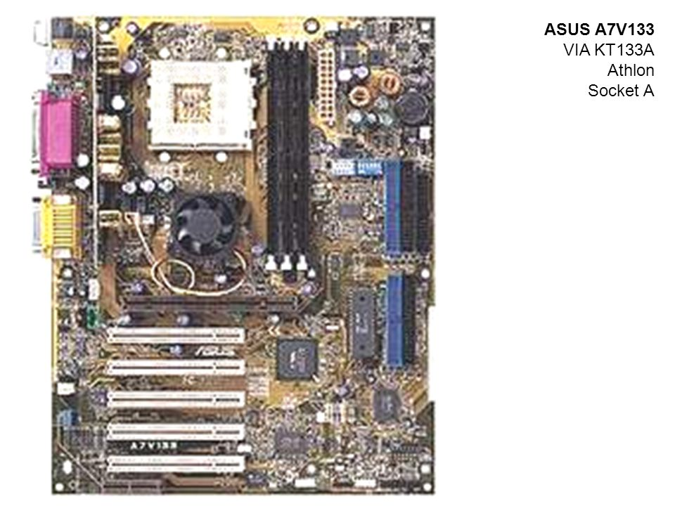 ASUS A7V133 VIA KT133A Athlon Socket A
