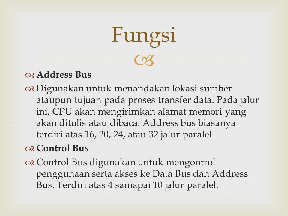 Fungsi Address Bus.
