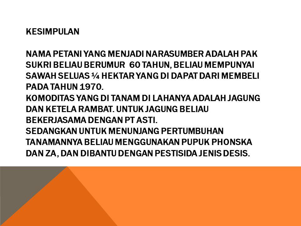 Hasil Praktikum Lapang Sosiologi Pertanian Ppt Download