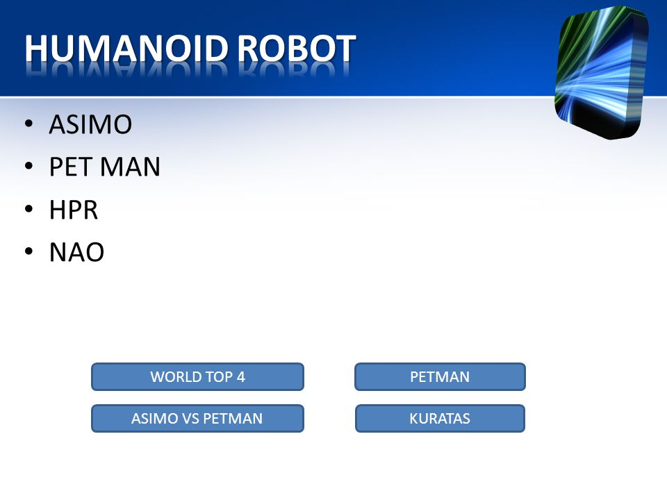 HUMANOID ROBOT ASIMO PET MAN HPR NAO WORLD TOP 4 PETMAN