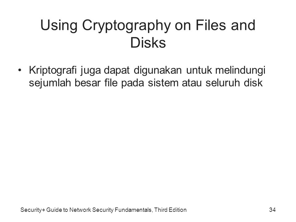 Using Cryptography on Files and Disks