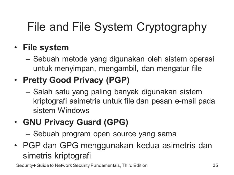 File and File System Cryptography