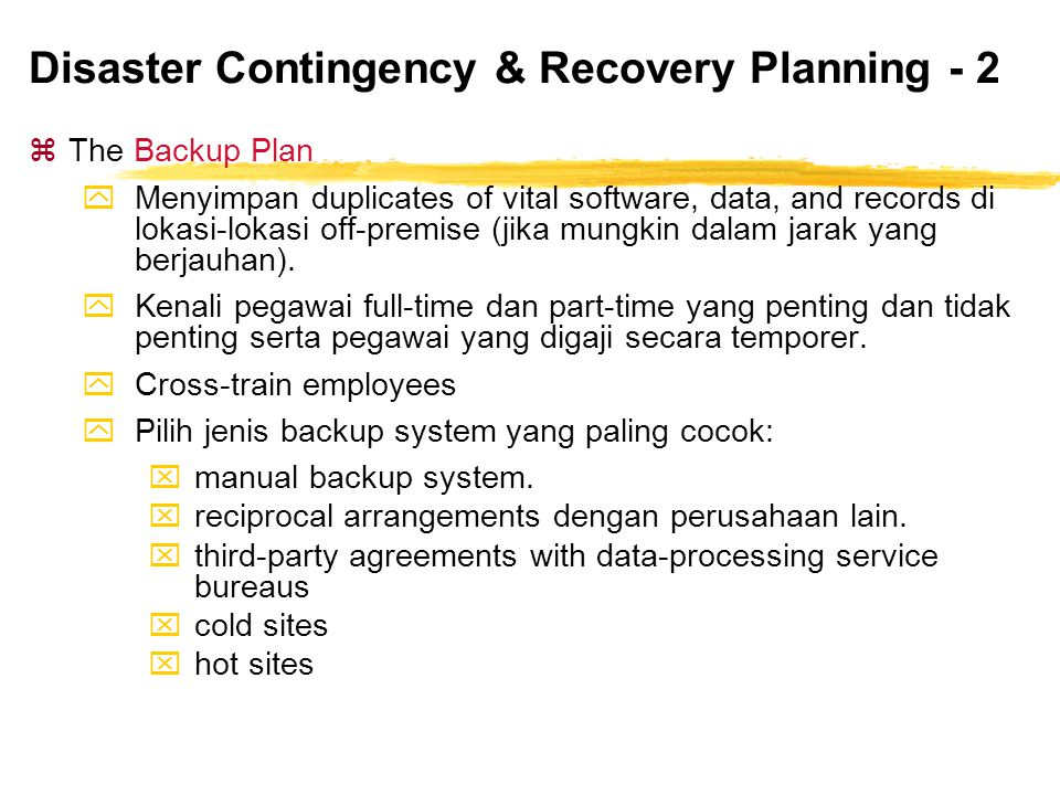 Disaster Contingency & Recovery Planning - 2