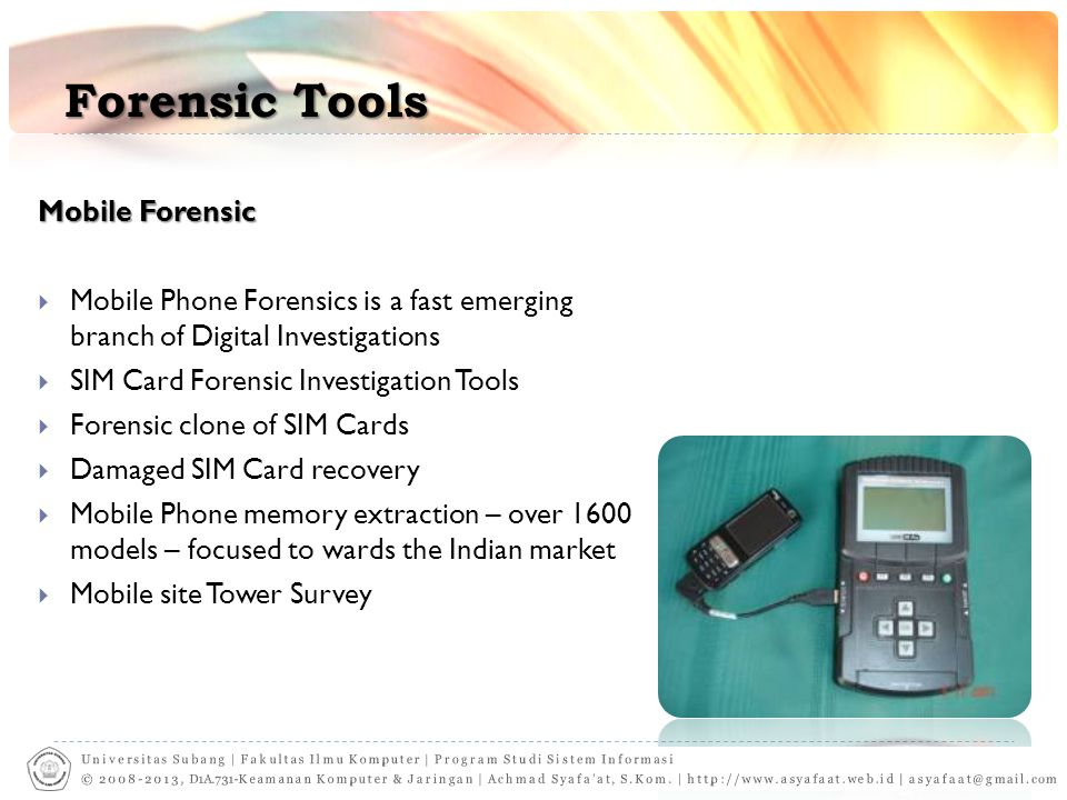 Forensic Tools Mobile Forensic
