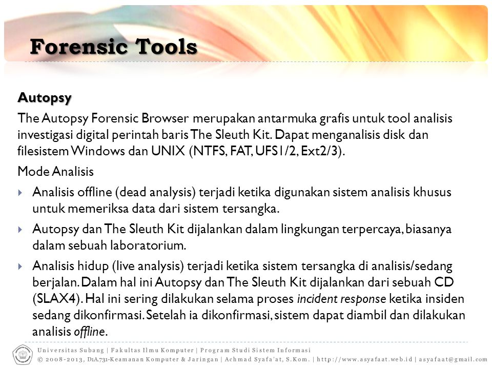 Forensic Tools Autopsy