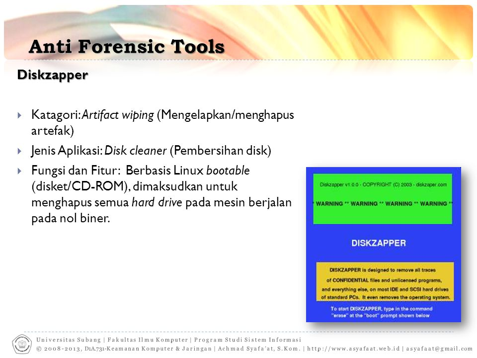 Anti Forensic Tools Diskzapper