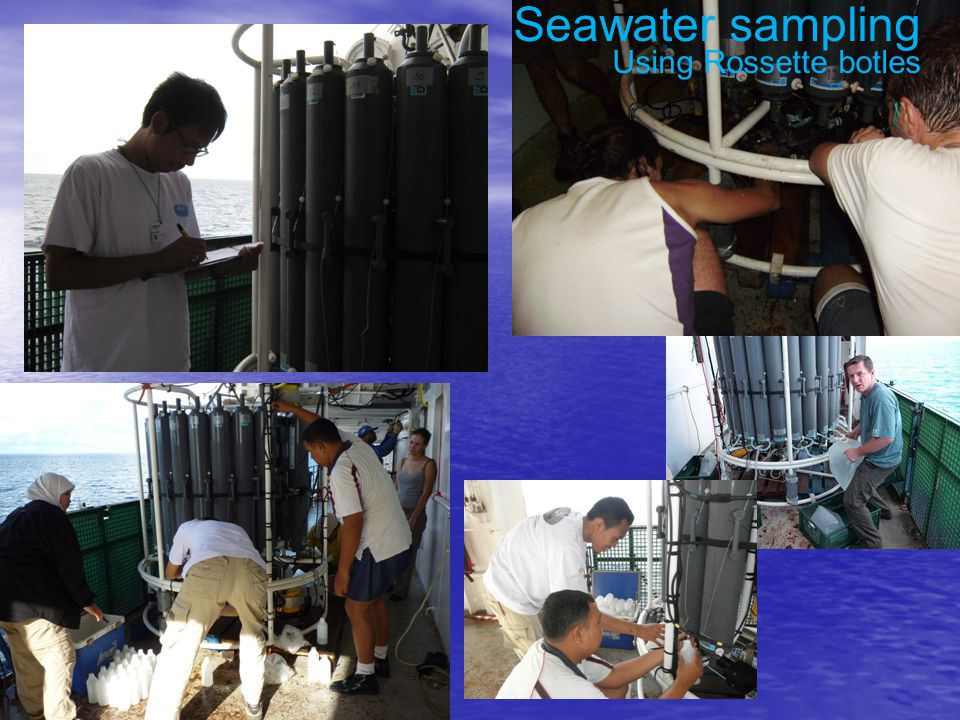 Seawater sampling Using Rossette botles