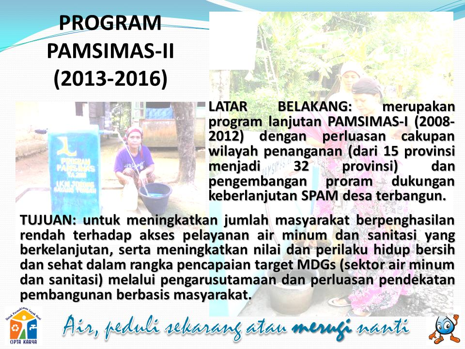 PROGRAM PAMSIMAS-II (2013-2016)