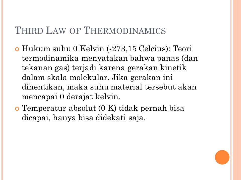 Third Law of Thermodinamics