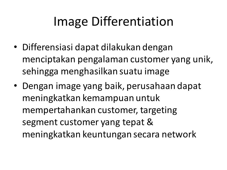 Image Differentiation