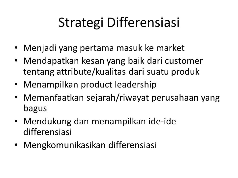 Strategi Differensiasi