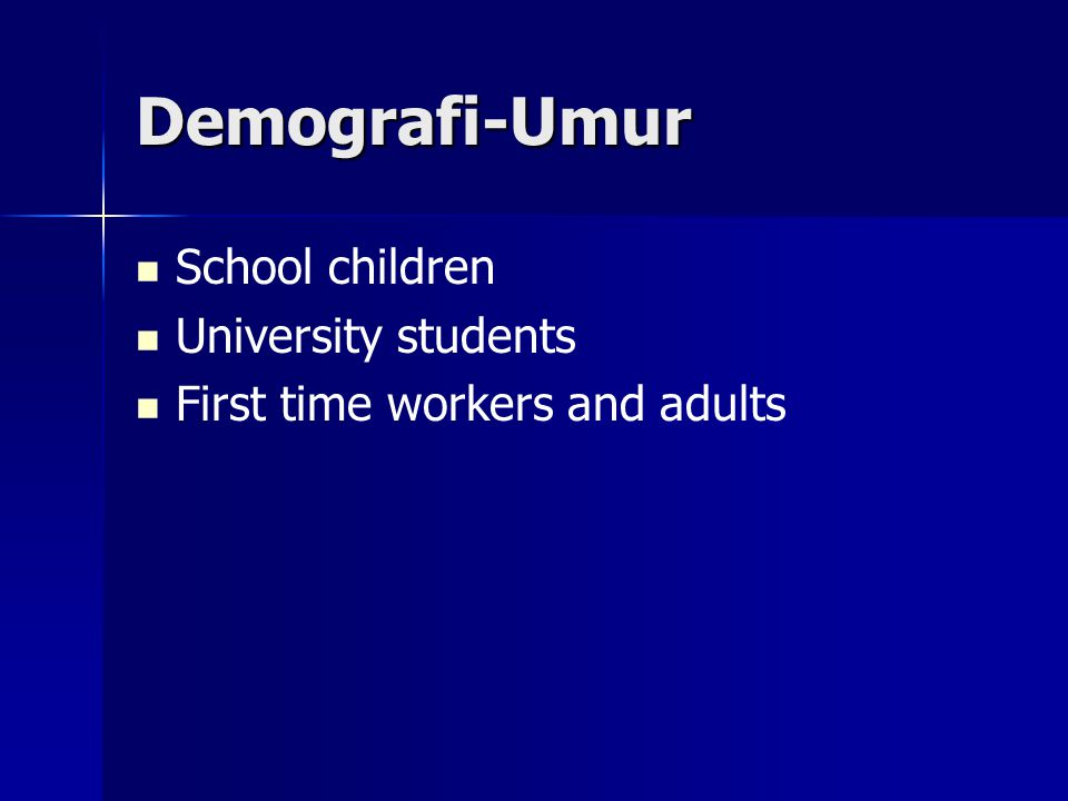 Demografi-Umur School children University students
