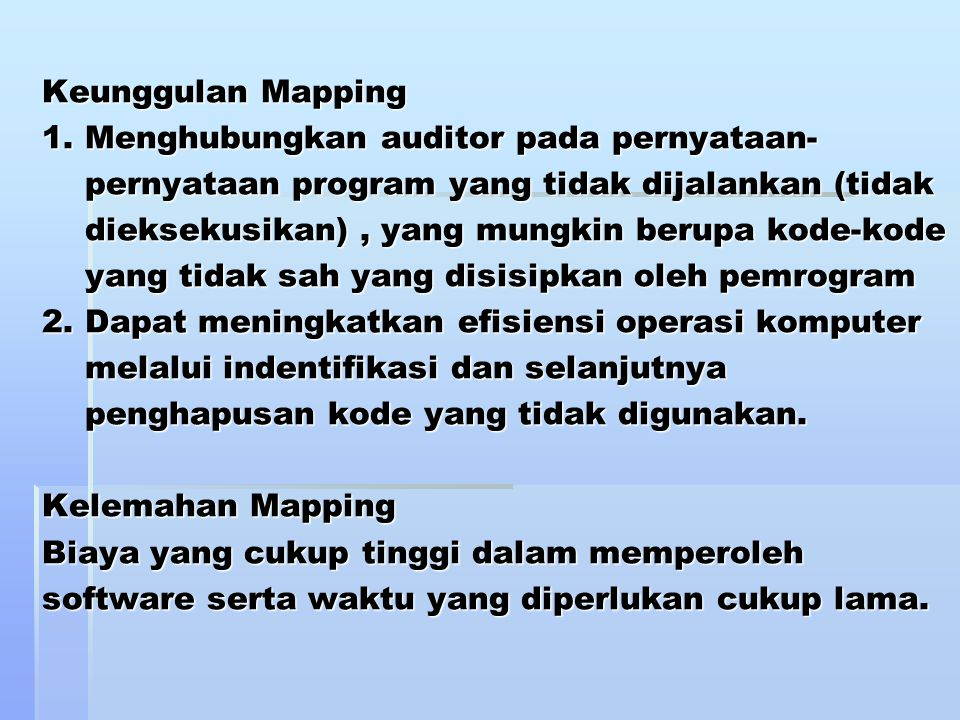 Keunggulan Mapping 1.