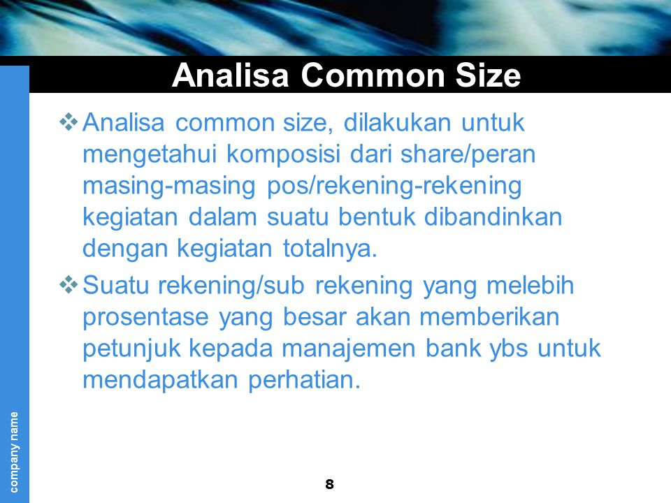Analisa Common Size