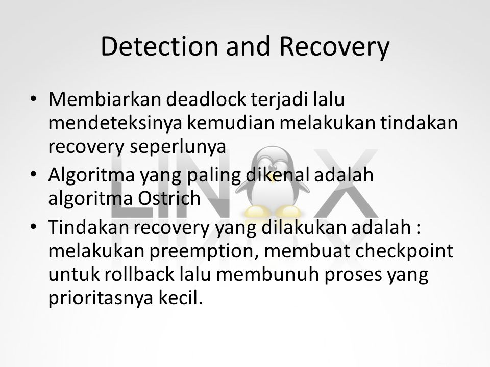 Detection and Recovery