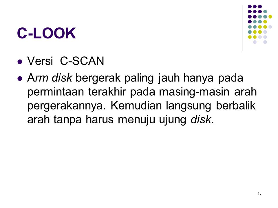 C-LOOK Versi C-SCAN.