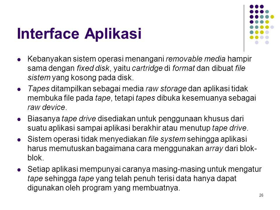 Interface Aplikasi