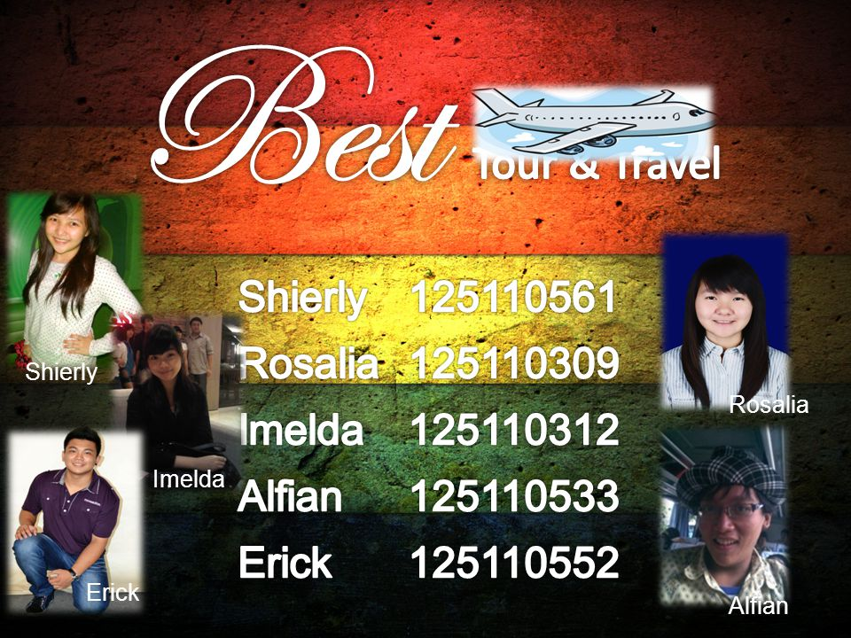 Best Tour & Travel Shierly 125110561 Rosalia 125110309