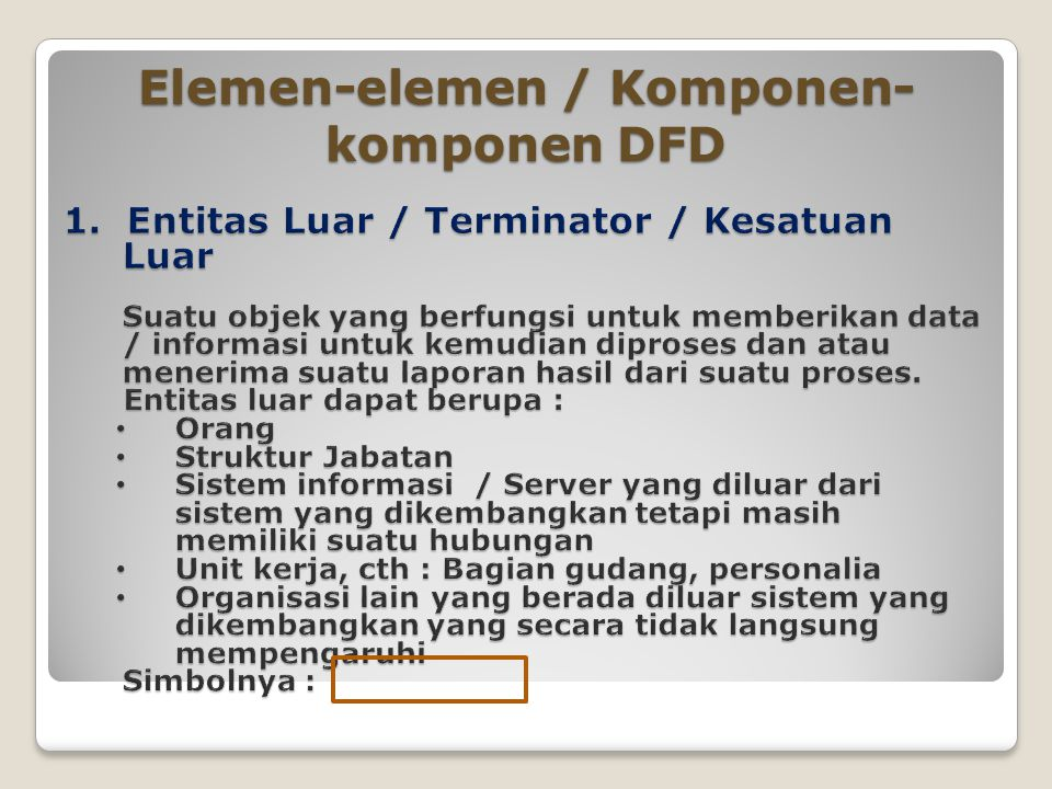 Diagram aliran data data flow diagram dfd ppt download elemen elemen komponen komponen dfd ccuart Gallery