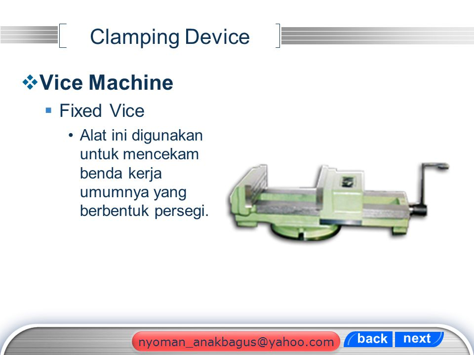 Clamping Device Vice Machine Fixed Vice