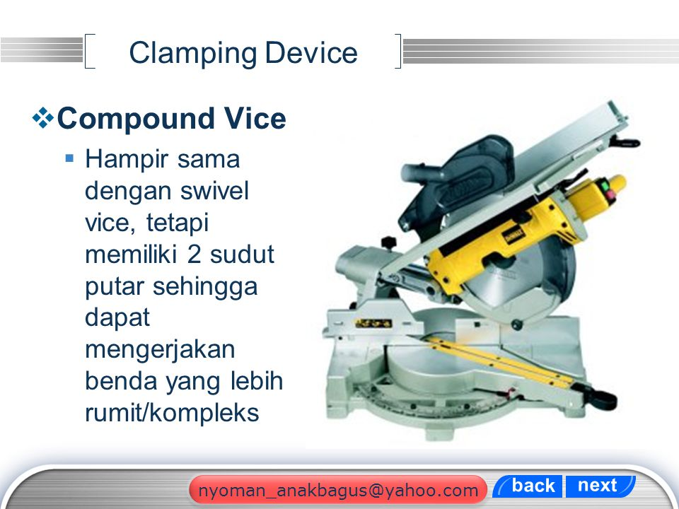 Clamping Device Compound Vice
