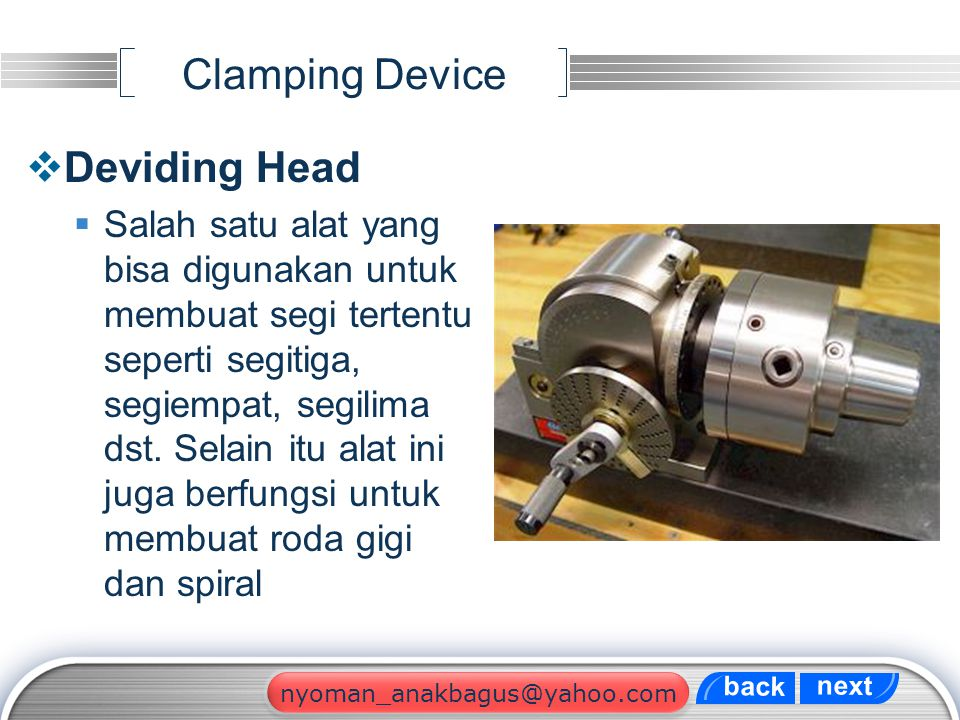 Clamping Device Deviding Head