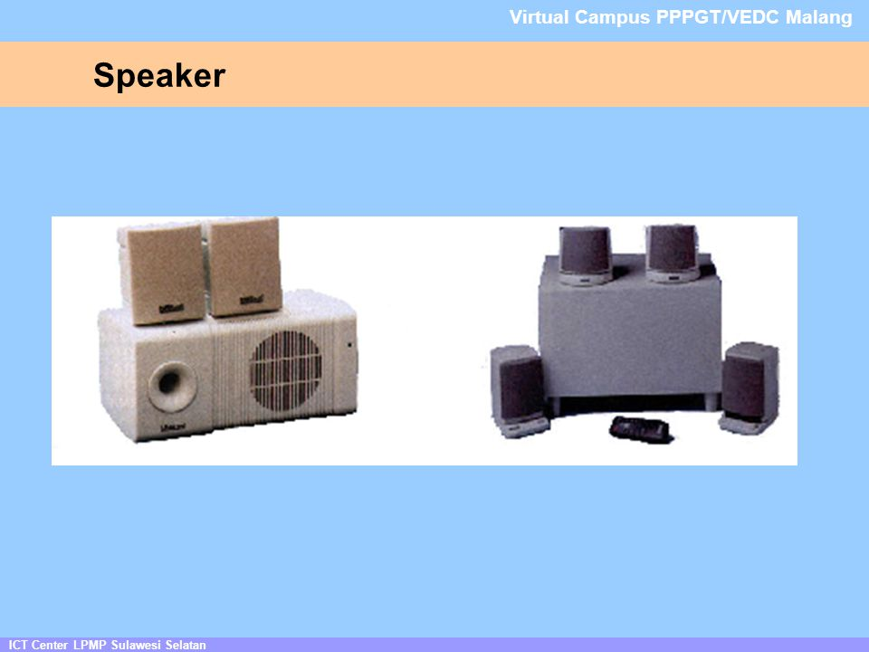Speaker Virtual Campus PPPGT/VEDC Malang