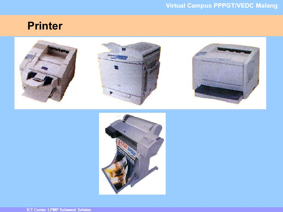 Printer Virtual Campus PPPGT/VEDC Malang