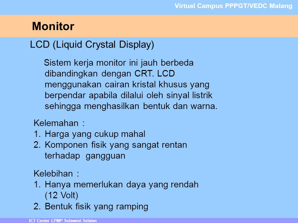 Monitor LCD (Liquid Crystal Display)