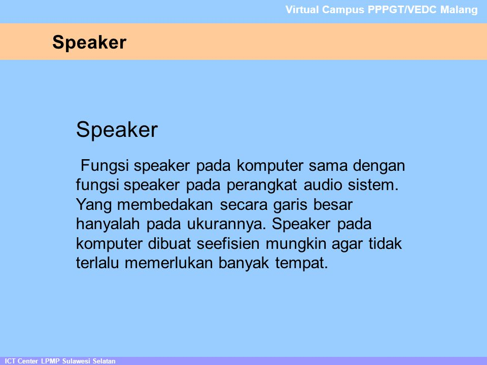 Virtual Campus PPPGT/VEDC Malang