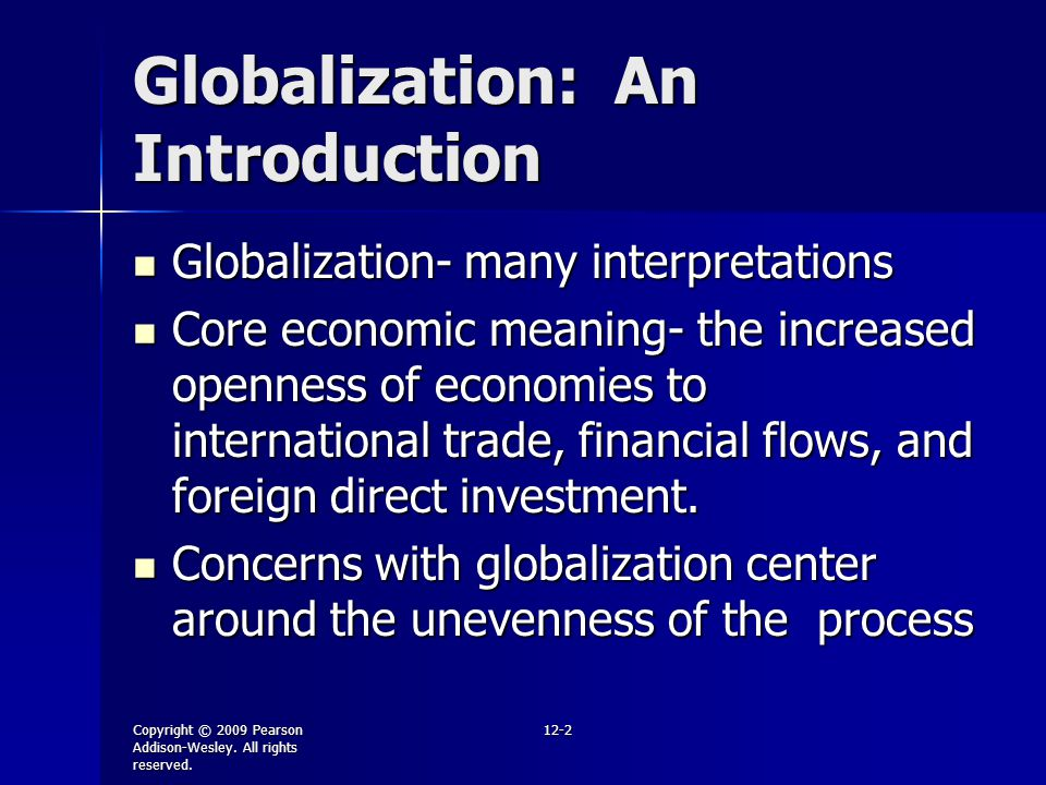 Globalization: An Introduction