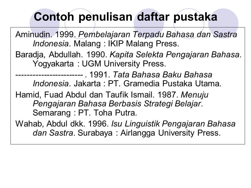 Menulis Daftar Pustaka Ppt Download