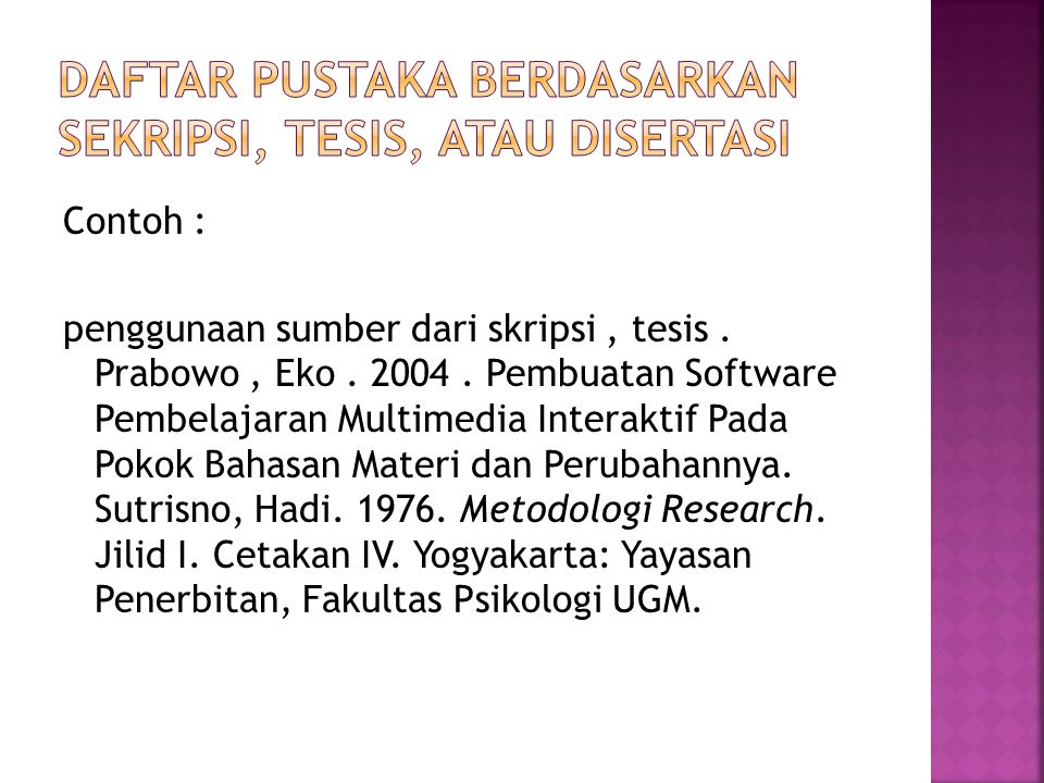 Penulisan Daftar Pustaka Ppt Download