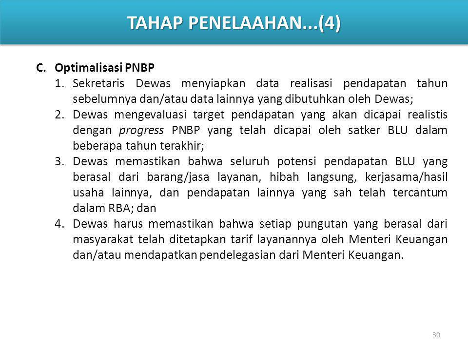 TAHAP PENELAAHAN...(4) Optimalisasi PNBP