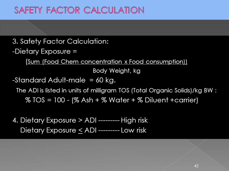 SAFETY FACTOR CALCULATION