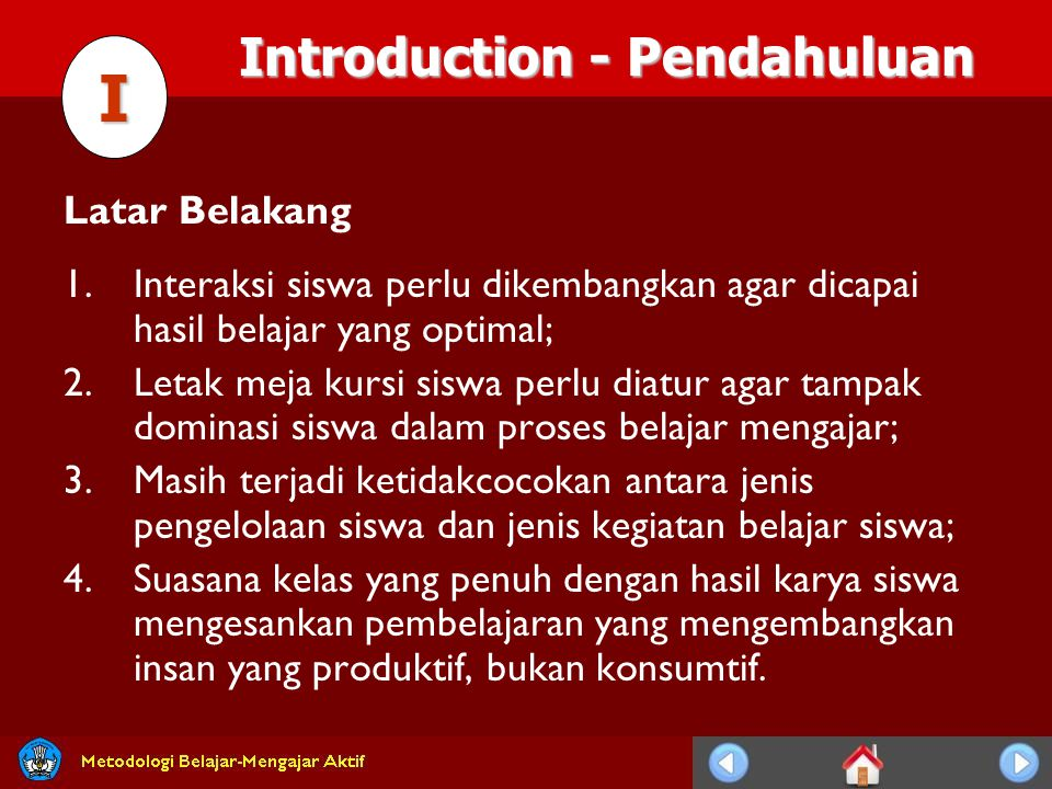I Introduction - Pendahuluan Latar Belakang