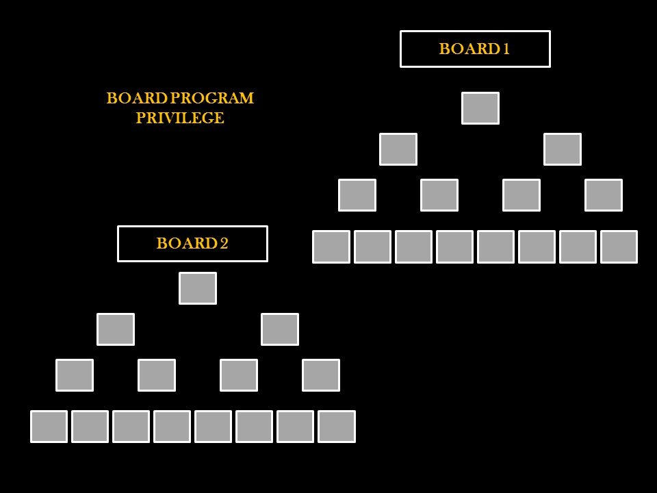 BOARD 1 BOARD PROGRAM PRIVILEGE BOARD 2