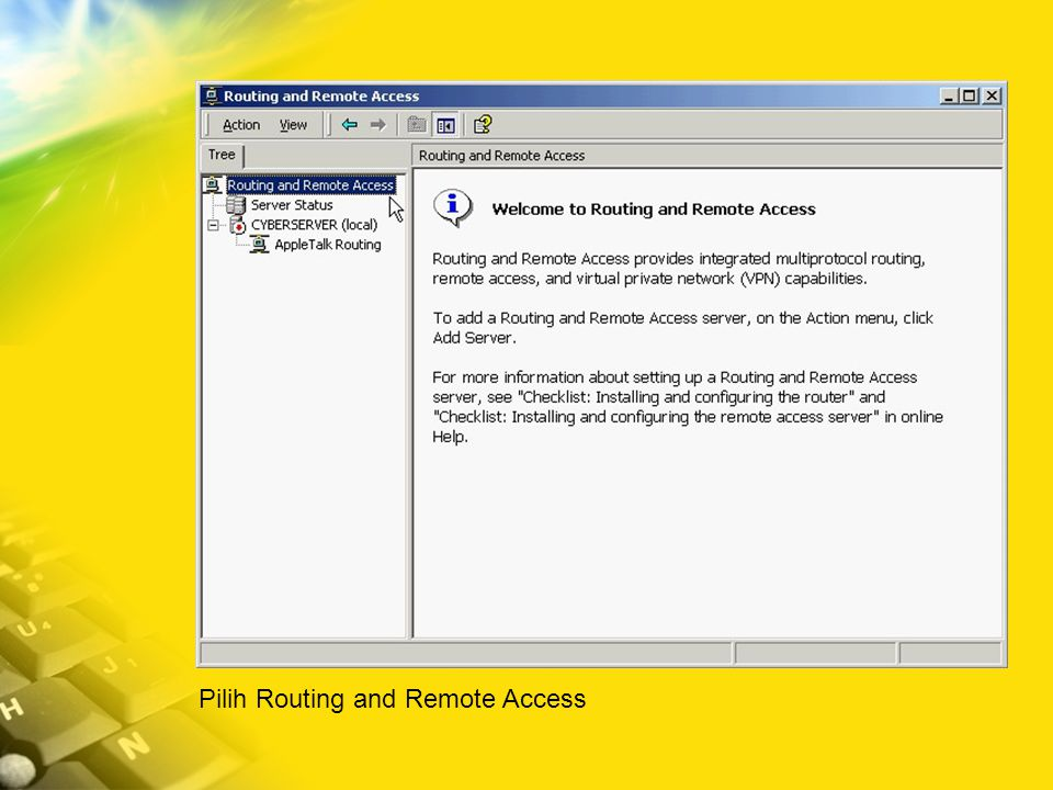 Pilih Routing and Remote Access