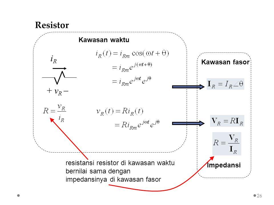 Analisis rangkaian listrik di kawasan fasor ppt download resistor ir vr kawasan waktu kawasan fasor ccuart Gallery